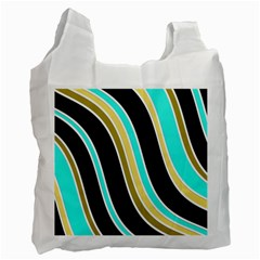 Elegant Lines Recycle Bag (two Side)  by Valentinaart