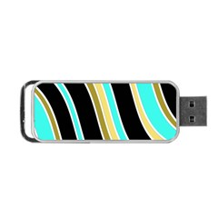 Elegant Lines Portable Usb Flash (one Side) by Valentinaart