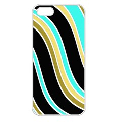 Elegant Lines Apple Iphone 5 Seamless Case (white) by Valentinaart