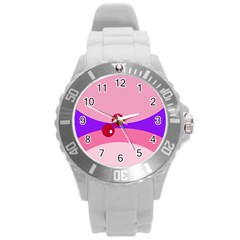 Decorative Abstraction Round Plastic Sport Watch (l) by Valentinaart