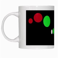 Colorful Dots White Mugs by Valentinaart