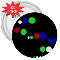 Colorful Dots 3  Buttons (100 Pack)  by Valentinaart
