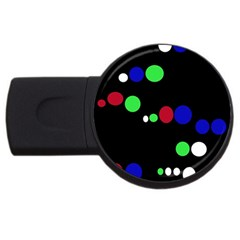 Colorful Dots Usb Flash Drive Round (4 Gb)  by Valentinaart