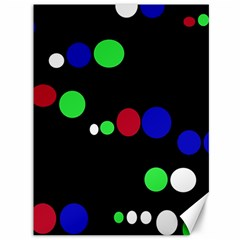 Colorful Dots Canvas 36  X 48   by Valentinaart