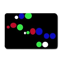 Colorful Dots Small Doormat  by Valentinaart