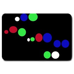 Colorful Dots Large Doormat  by Valentinaart