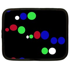 Colorful Dots Netbook Case (large) by Valentinaart