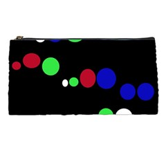 Colorful Dots Pencil Cases by Valentinaart