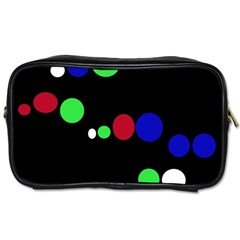 Colorful Dots Toiletries Bags 2 Side by Valentinaart