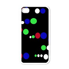 Colorful Dots Apple Iphone 4 Case (white) by Valentinaart