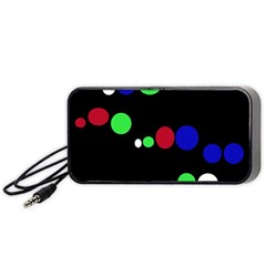 Colorful Dots Portable Speaker (black)  by Valentinaart