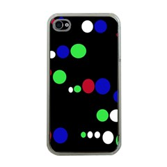 Colorful Dots Apple Iphone 4 Case (clear)