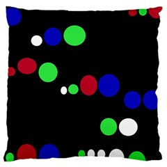 Colorful Dots Large Cushion Case (one Side) by Valentinaart