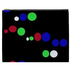 Colorful Dots Cosmetic Bag (xxxl)  by Valentinaart
