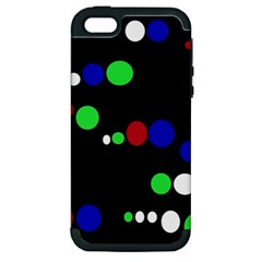 Colorful Dots Apple Iphone 5 Hardshell Case (pc+silicone) by Valentinaart