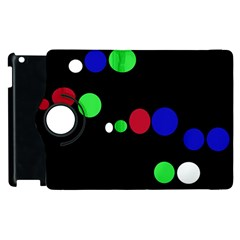 Colorful Dots Apple Ipad 2 Flip 360 Case by Valentinaart