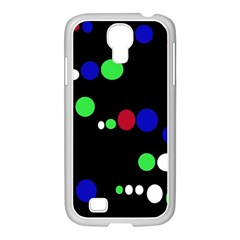 Colorful Dots Samsung Galaxy S4 I9500/ I9505 Case (white) by Valentinaart