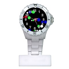 Colorful Dots Plastic Nurses Watch by Valentinaart
