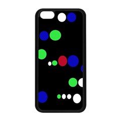 Colorful Dots Apple Iphone 5c Seamless Case (black) by Valentinaart