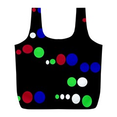 Colorful Dots Full Print Recycle Bags (l)  by Valentinaart
