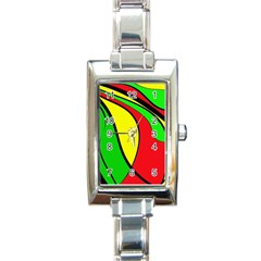 Colors Of Jamaica Rectangle Italian Charm Watch by Valentinaart