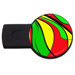 Colors Of Jamaica Usb Flash Drive Round (4 Gb)  by Valentinaart