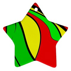 Colors Of Jamaica Star Ornament (two Sides)  by Valentinaart