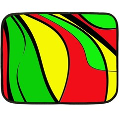 Colors Of Jamaica Fleece Blanket (mini) by Valentinaart