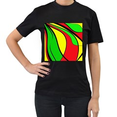Colors Of Jamaica Women s T Shirt (black) by Valentinaart