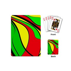 Colors Of Jamaica Playing Cards (mini)  by Valentinaart