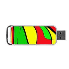 Colors Of Jamaica Portable Usb Flash (one Side) by Valentinaart