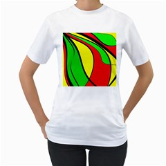 Colors Of Jamaica Women s T Shirt (white)  by Valentinaart
