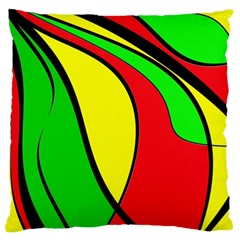 Colors Of Jamaica Large Flano Cushion Case (two Sides) by Valentinaart