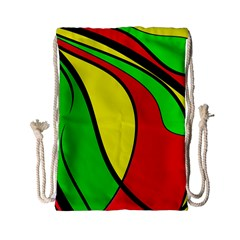 Colors Of Jamaica Drawstring Bag (small) by Valentinaart