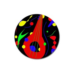 Abstract Guitar  Magnet 3  (round) by Valentinaart