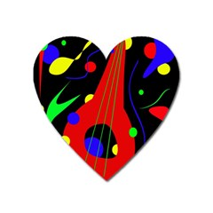 Abstract Guitar  Heart Magnet by Valentinaart