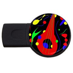 Abstract Guitar  Usb Flash Drive Round (2 Gb)  by Valentinaart