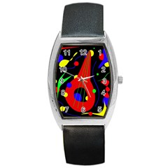 Abstract Guitar  Barrel Style Metal Watch by Valentinaart