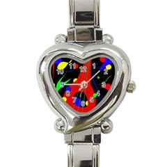 Abstract Guitar  Heart Italian Charm Watch by Valentinaart