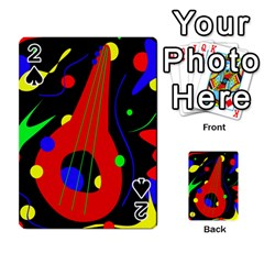 Abstract Guitar  Playing Cards 54 Designs  by Valentinaart