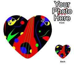 Abstract Guitar  Playing Cards 54 (heart)  by Valentinaart