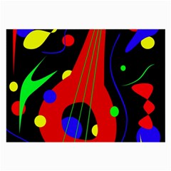 Abstract Guitar  Large Glasses Cloth (2 Side) by Valentinaart