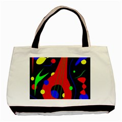 Abstract Guitar  Basic Tote Bag (two Sides) by Valentinaart