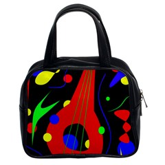 Abstract Guitar  Classic Handbags (2 Sides) by Valentinaart