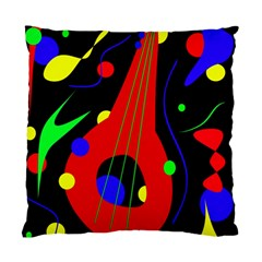Abstract Guitar  Standard Cushion Case (one Side) by Valentinaart