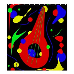 Abstract Guitar  Shower Curtain 66  X 72  (large)  by Valentinaart