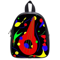 Abstract Guitar  School Bags (small)  by Valentinaart