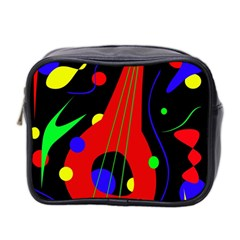 Abstract Guitar  Mini Toiletries Bag 2 Side by Valentinaart