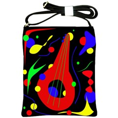 Abstract Guitar  Shoulder Sling Bags by Valentinaart