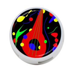 Abstract Guitar  4 Port Usb Hub (two Sides)  by Valentinaart